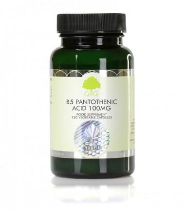 Vitamin B5, Pantotenska kiselina 100 mg, 120 kapsula